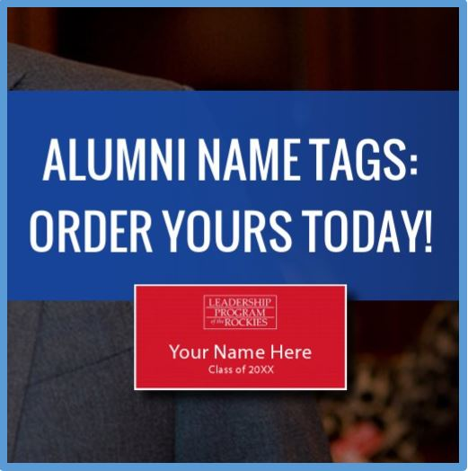 Order your LPR Alumni Name Tag Today!