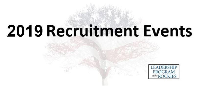2019 LPR Recruitment Events